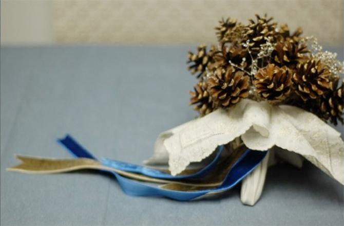 pinecone 1 Šest jedinstvenih svadbenih buketa