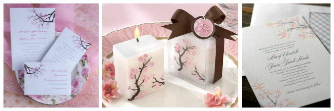 Pozivnice 1 Trešnjin cvet, idealna dekoracija za prolećno venčanje