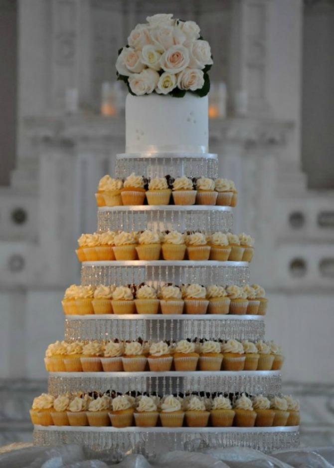 Svadbena torta od mafina Mafini umesto svadbene torte