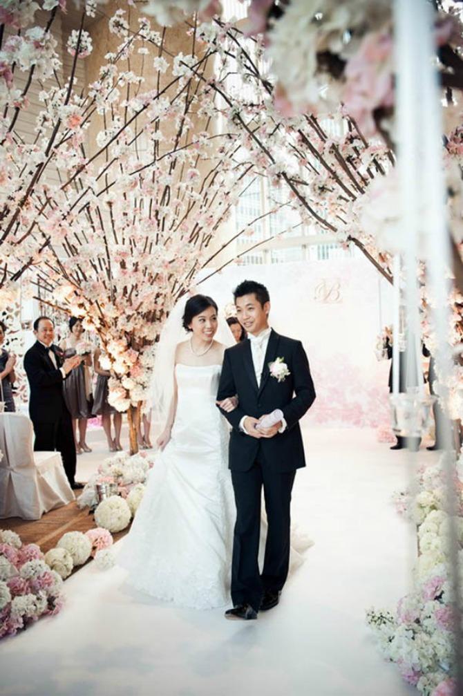 Trešnjin cvet kao tema venčanja 6 Trešnjin cvet, idealna dekoracija za prolećno venčanje