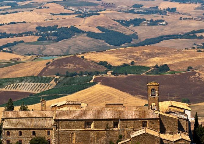 1 panorama Italijanski zamkovi: Montalćino, Toskana