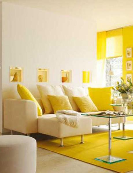 Boje u mom enterijeru: Žuta