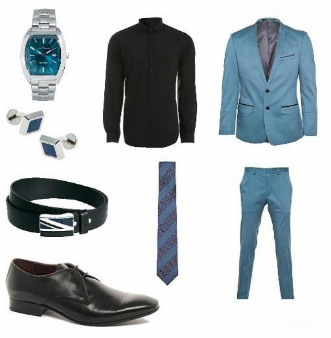 217 Moda za muškarce: Crno i plavo