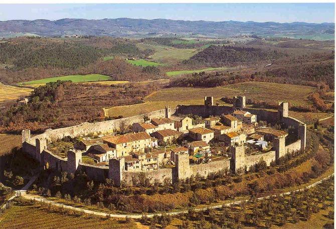 7 zamak Italijanski zamkovi: Montalćino, Toskana