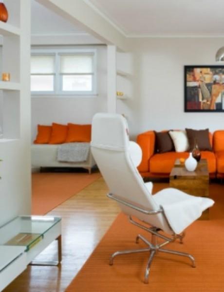 Boje u enterijeru: Narandžasta