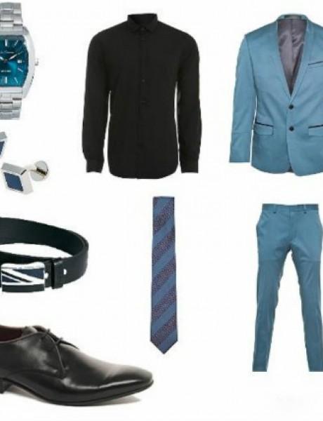 Moda za muškarce: Crno i plavo
