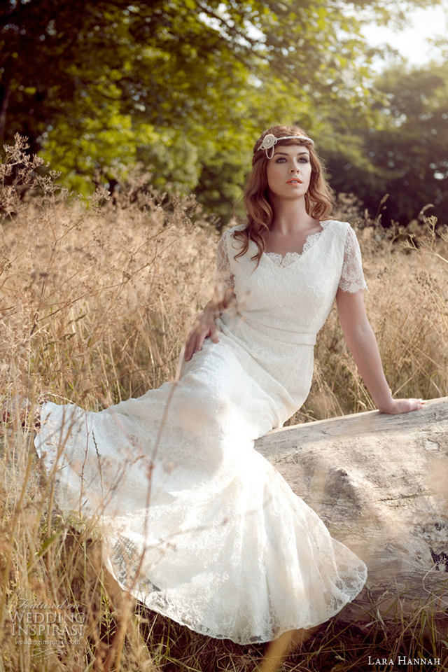 lara hannah 2014 magic wedding dress lace sleeves Lara Hannah: Magična kolekcija
