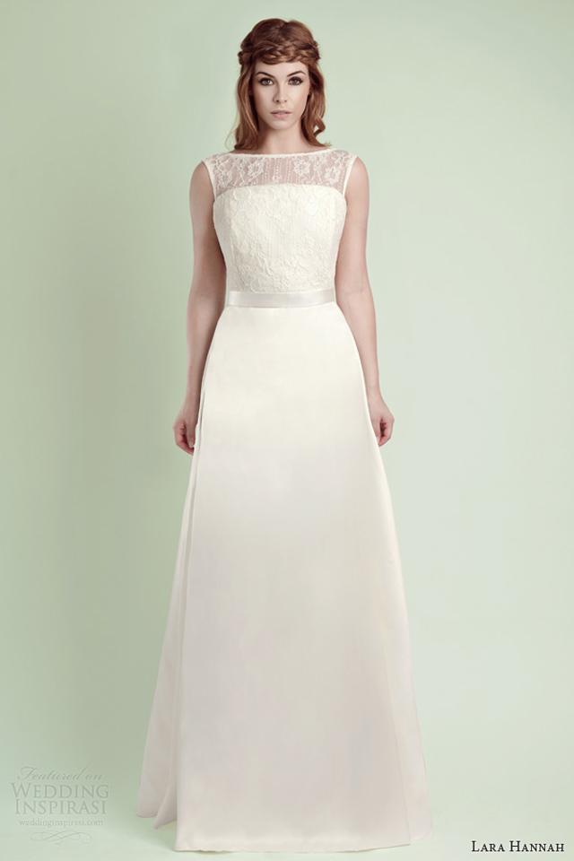 lara hannah wedding dress 2014 rain strapless bridal gown illusion neckline sleeveless Lara Hannah: Magična kolekcija