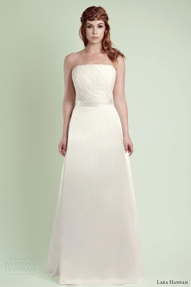 lara hannah wedding dress 2014 rain strapless bridal gown Lara Hannah: Magična kolekcija
