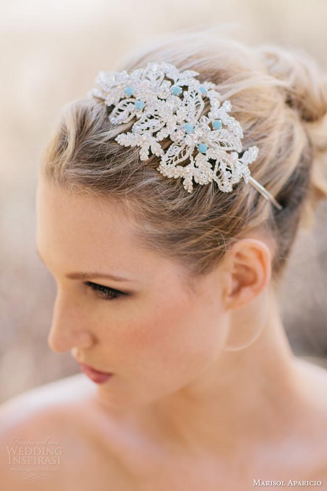 marisol aparicio bridal accessories fall 2013 encrusted headband something blue Aksesoar dana: Rajf Marisol Aparicio