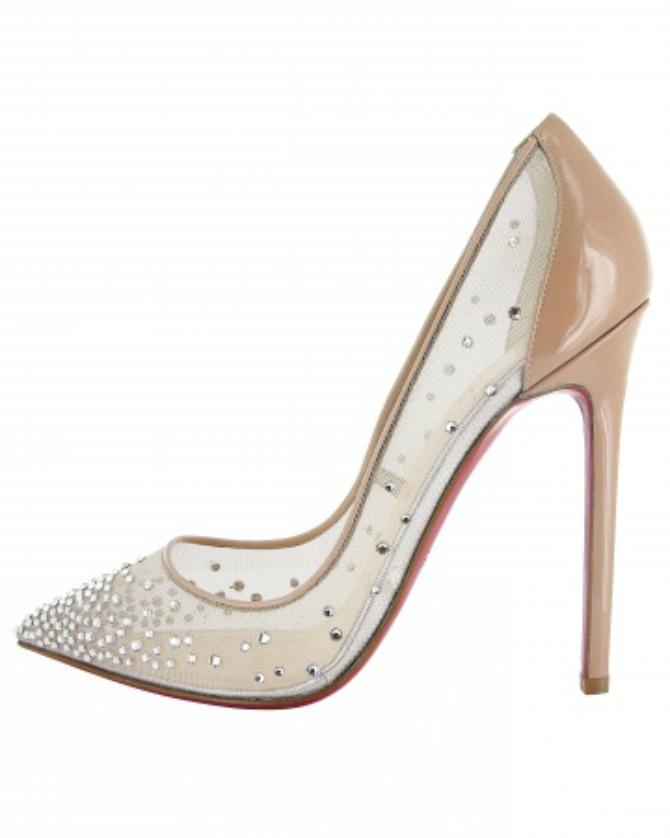 christian louboutin body strass 120 patent heel nude shoes msw fall13 vert Predivne svadbene cipele