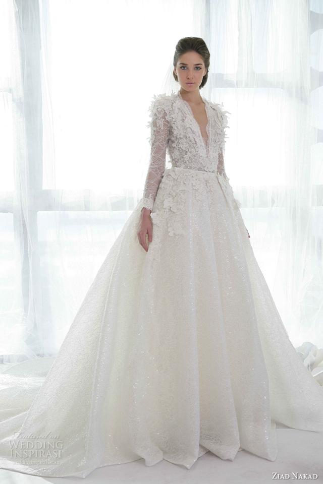 ziad nakad wedding dresses 2013 ball gown long sleeves Venčanica dana: Haljina Ziad Nakad