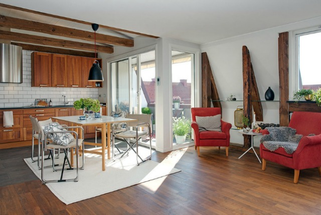 apartment Swedish design Rustičan i topao dom u Švedskoj