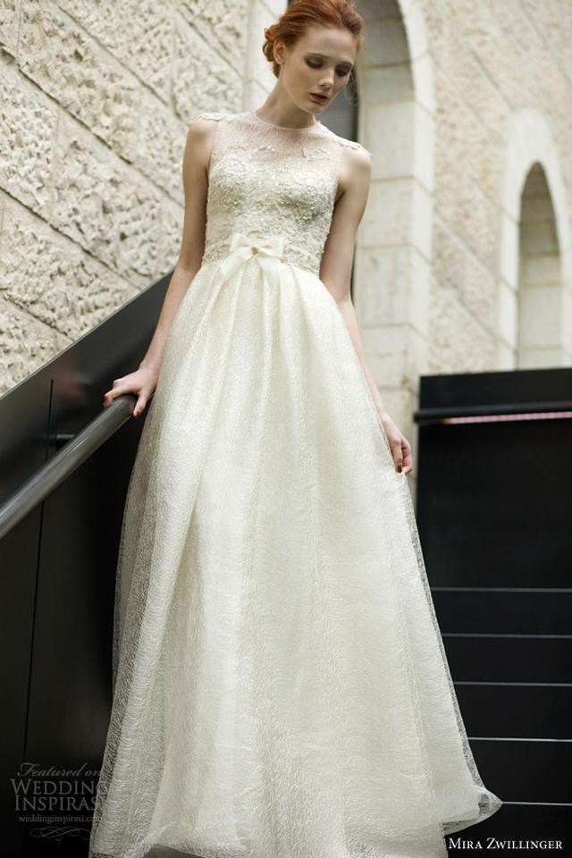 mira zwillinger wedding dresses 2013 2014 grace bridal gown illusion bodice Venčanica dana: Mira Zwillinger