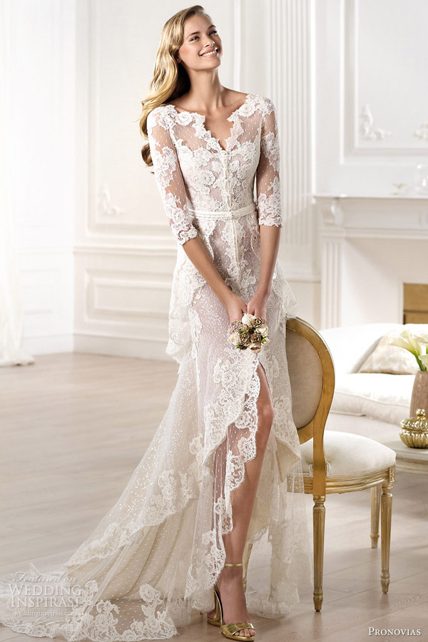 pronovias 2014 atelier bridal collection yaela lace wedding dress Venčanica dana: Ljubav na prvi pogled