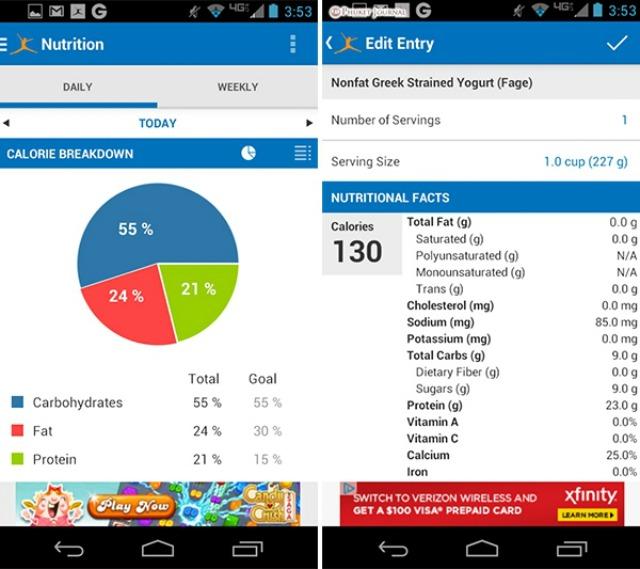 01 MyFitnessPal app1 Aplikacije koje će vam pomoći da smršate