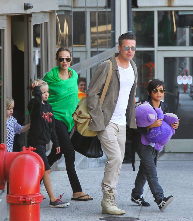 Angelina Jolie Brad Pitt Kids LAX Porodica Džoli   Pit ponovo na okupu