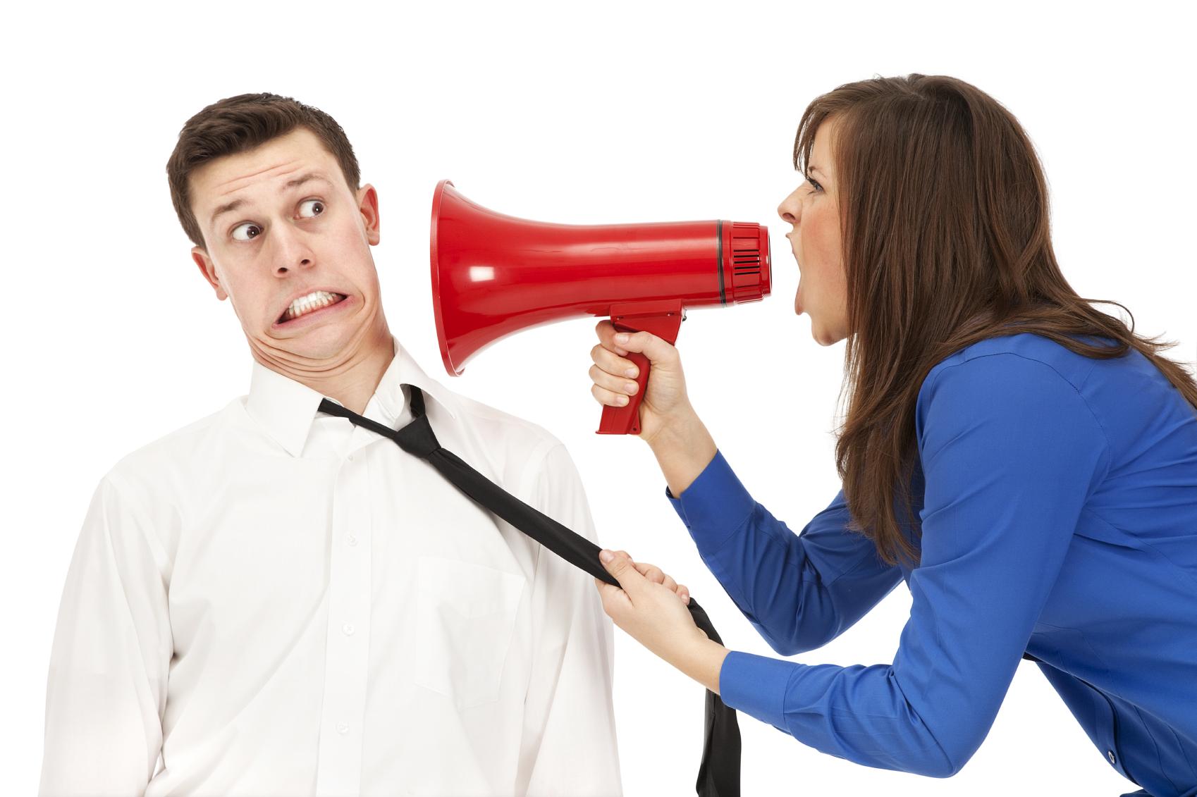 Woman yelling in megaphone Kad vam svi kažu da ste prolupali