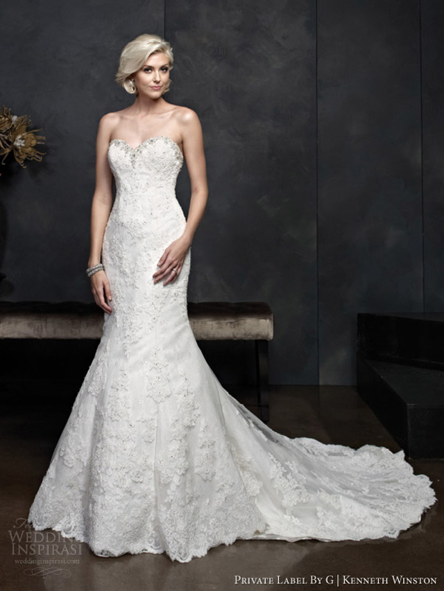 kenneth winston spring 2014 strapless wedding dress style 1545 Venčanica dana: Kristalna bajka
