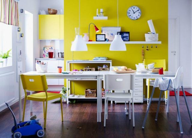 47 Dekor i inspiracija: Limun žuta boja