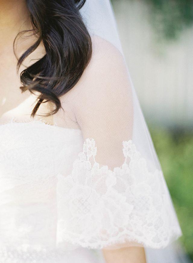 8 Delicate Veil Trimming Morate se ovako slikati na svom venčanju!