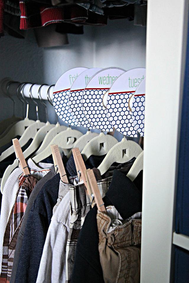 Day Week Clothes Trikovi za bolju organizaciju prostora