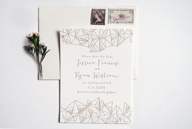 Geometric Unikatne, a prelepe: Pozivnice za vaše venčanje