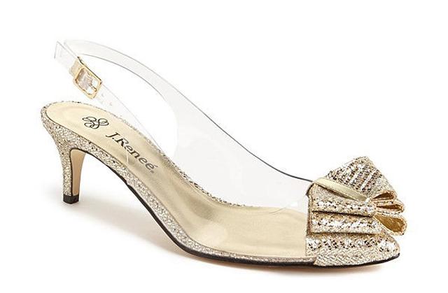 J Reneé gold clear slingback kitten heels 85 Da li je ok ne želeti štikle na sopstvenom venčanju?