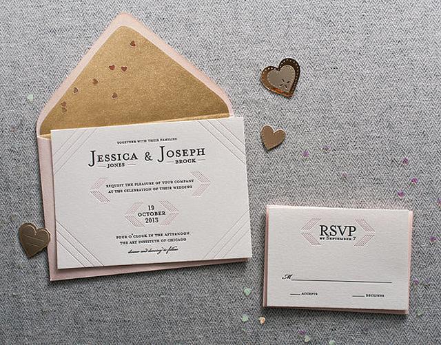 Letterpress Unikatne, a prelepe: Pozivnice za vaše venčanje