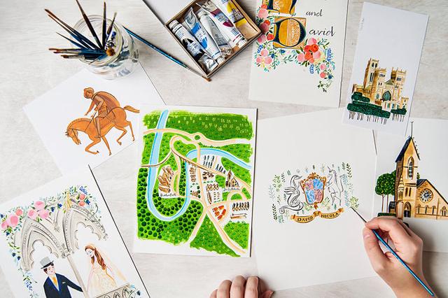 Personalized Illustration Unikatne, a prelepe: Pozivnice za vaše venčanje