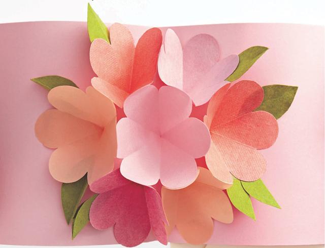 Pop Up Card Uradite sami: Proleće u kući