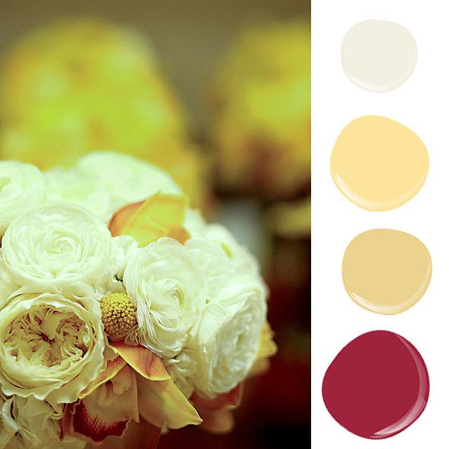 Pulling yellow hues floral arrangement inspired soft Zidovi u boji cveća