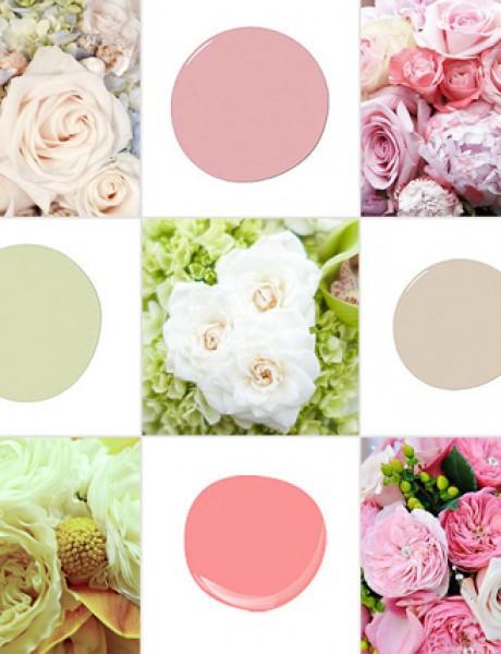 Zidovi u boji cveća