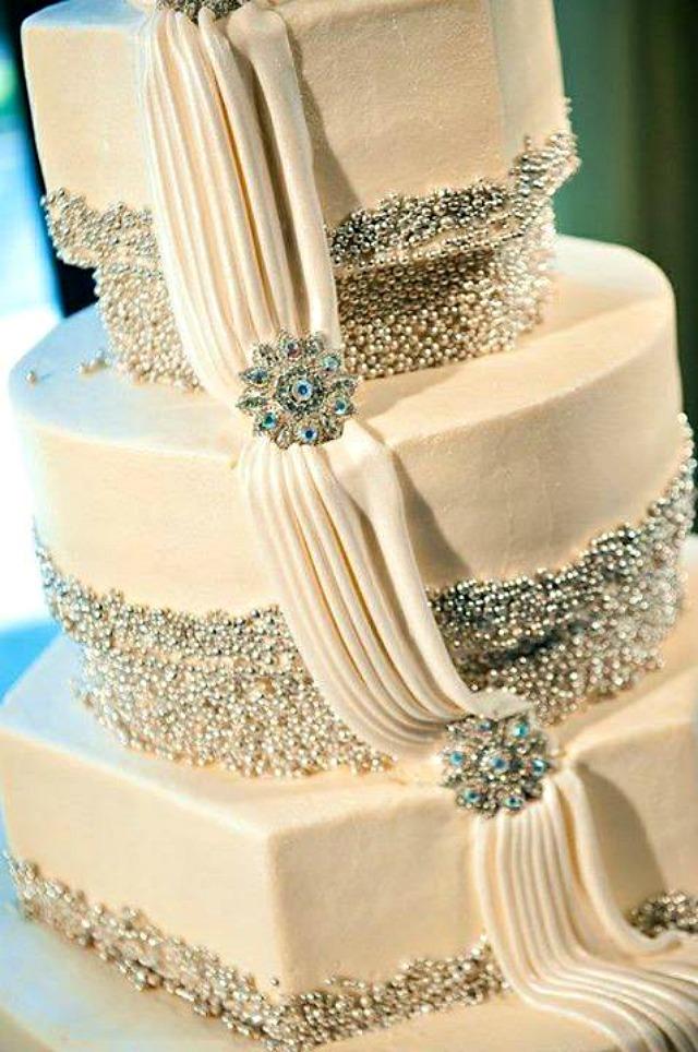 Torta perlice brosevi Trendi venčanje: Samo neka se sija