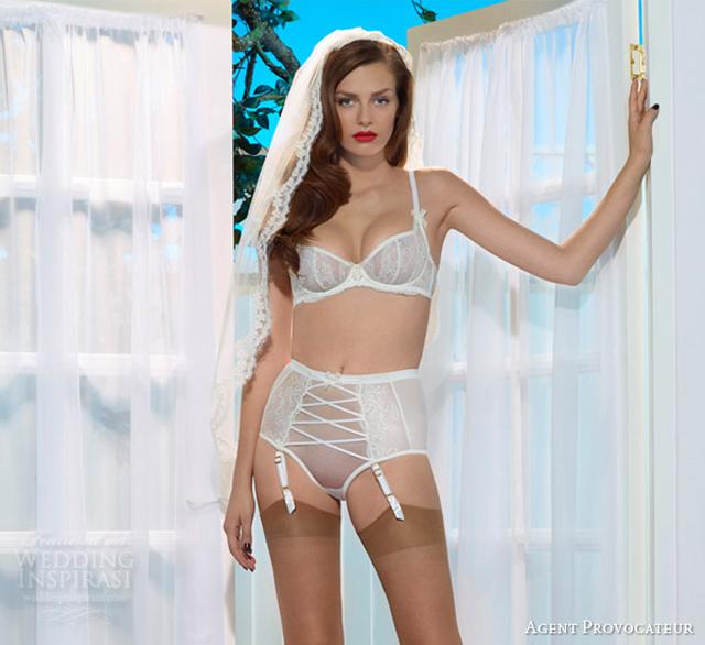 agent provocateur bridal collection iyla bra full brief panties Šta se nosi ispod venčanice