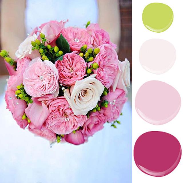 bright pink floral bouquet feminine yet playful Zidovi u boji cveća