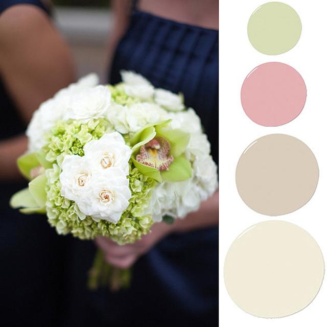 shade fresh green pops against neutral colors like Zidovi u boji cveća