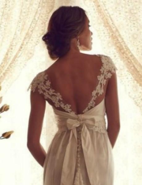 Venčanica dana: Haljina od čipke i leđa gola