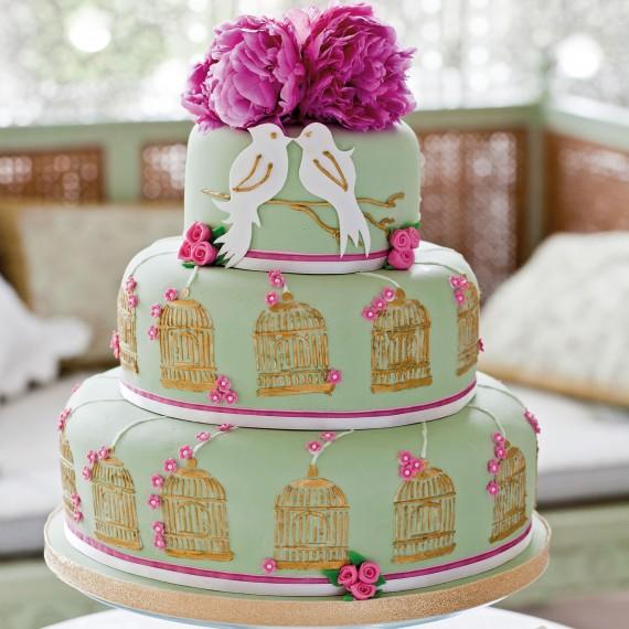 lovebirds victoria glass Venčanje iz snova: Raskošne torte