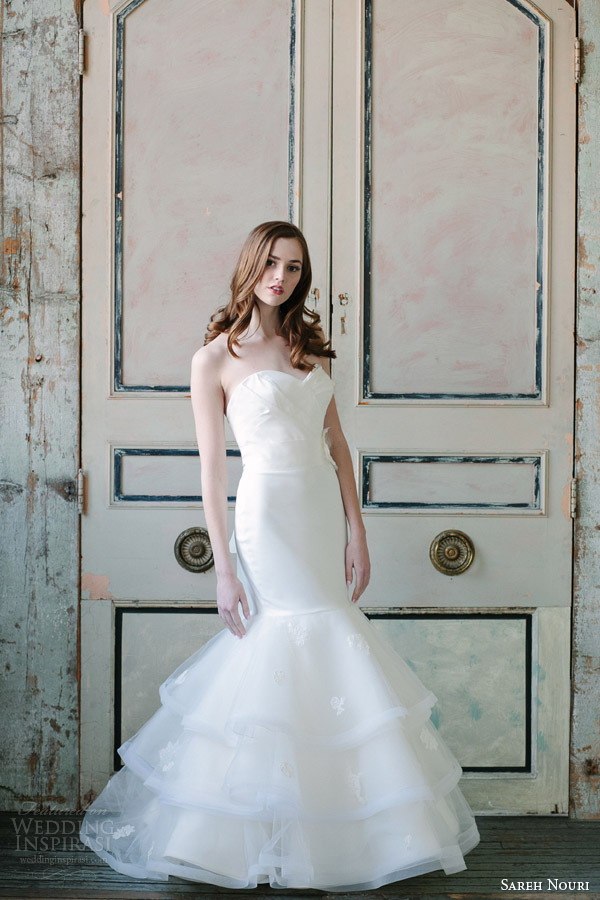 sareh nouri spring 2015 strapless mermaid wedding dress ewa Modna inspiracija: Venčanica inspirisana prolećem