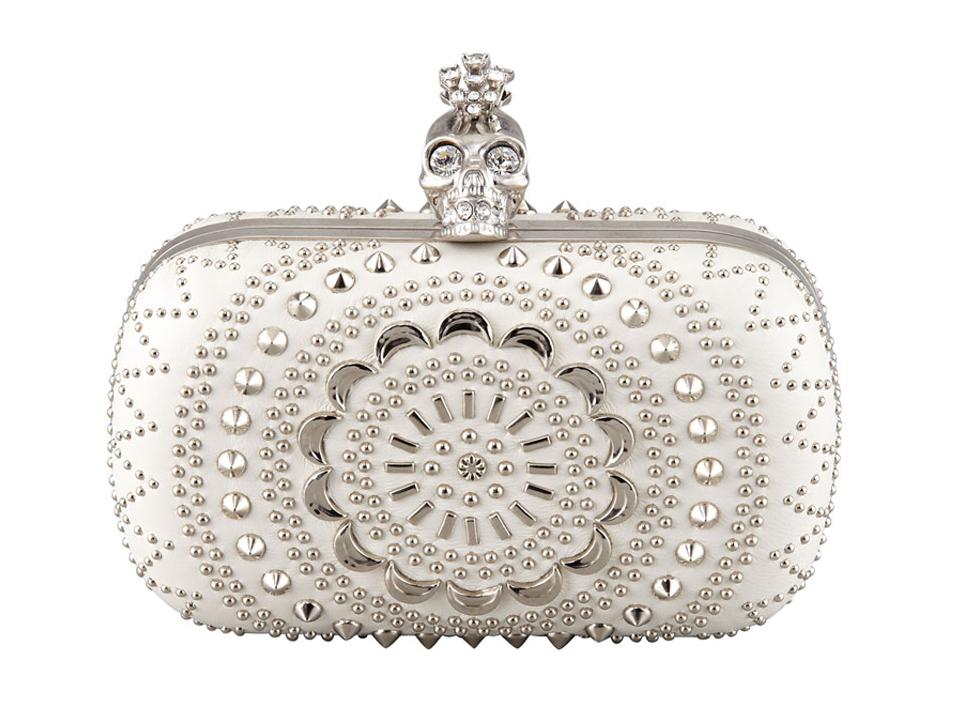 Alexander McQueen Studded Crochet Skull Minaudiere Venčanje iz snova: Clutch tašne