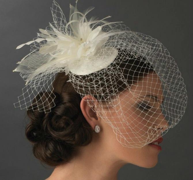 AnyaBridalBirdcageVeilBridalHatwithSwarovskiCrystal8366 Detalj sa svadbe koji se ne izostavlja: Veo