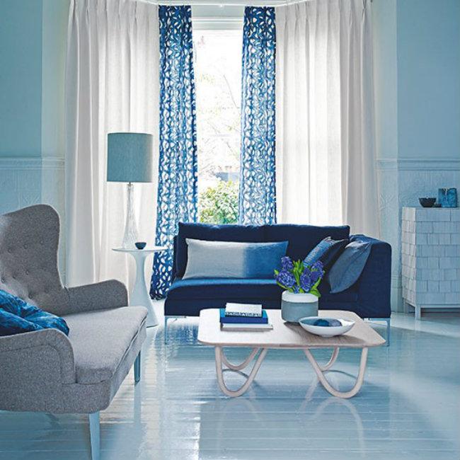 Blue tonal living room Boje vašeg doma: Unesite živosti u svoj stan