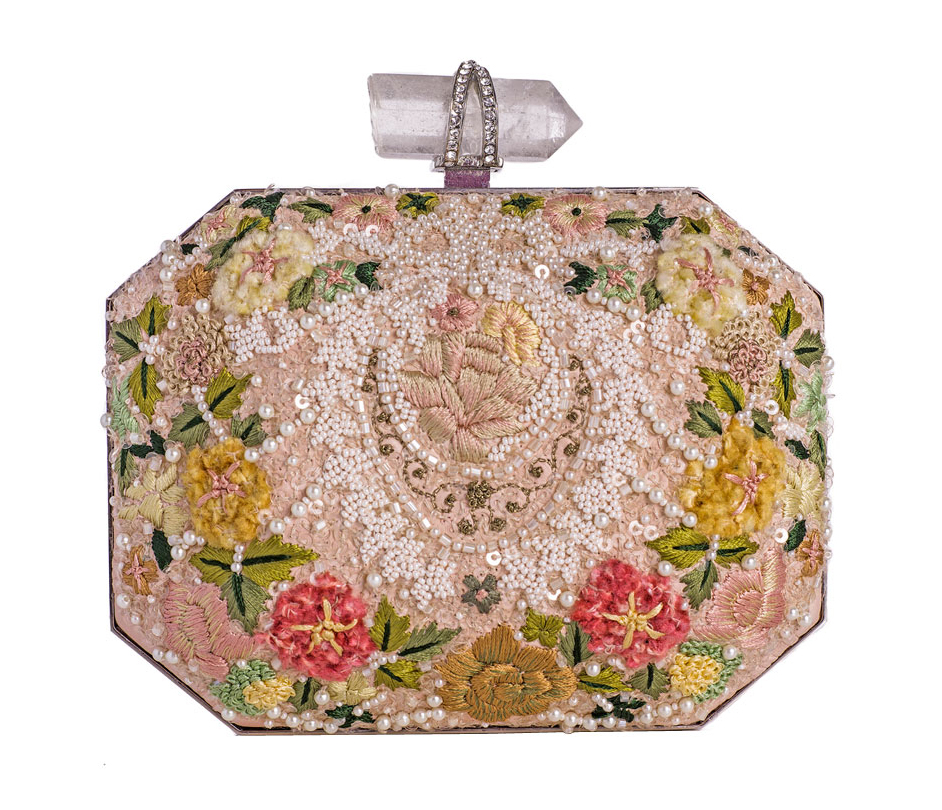 Marchesa Floral Embroidered Box Clutch Venčanje iz snova: Clutch tašne