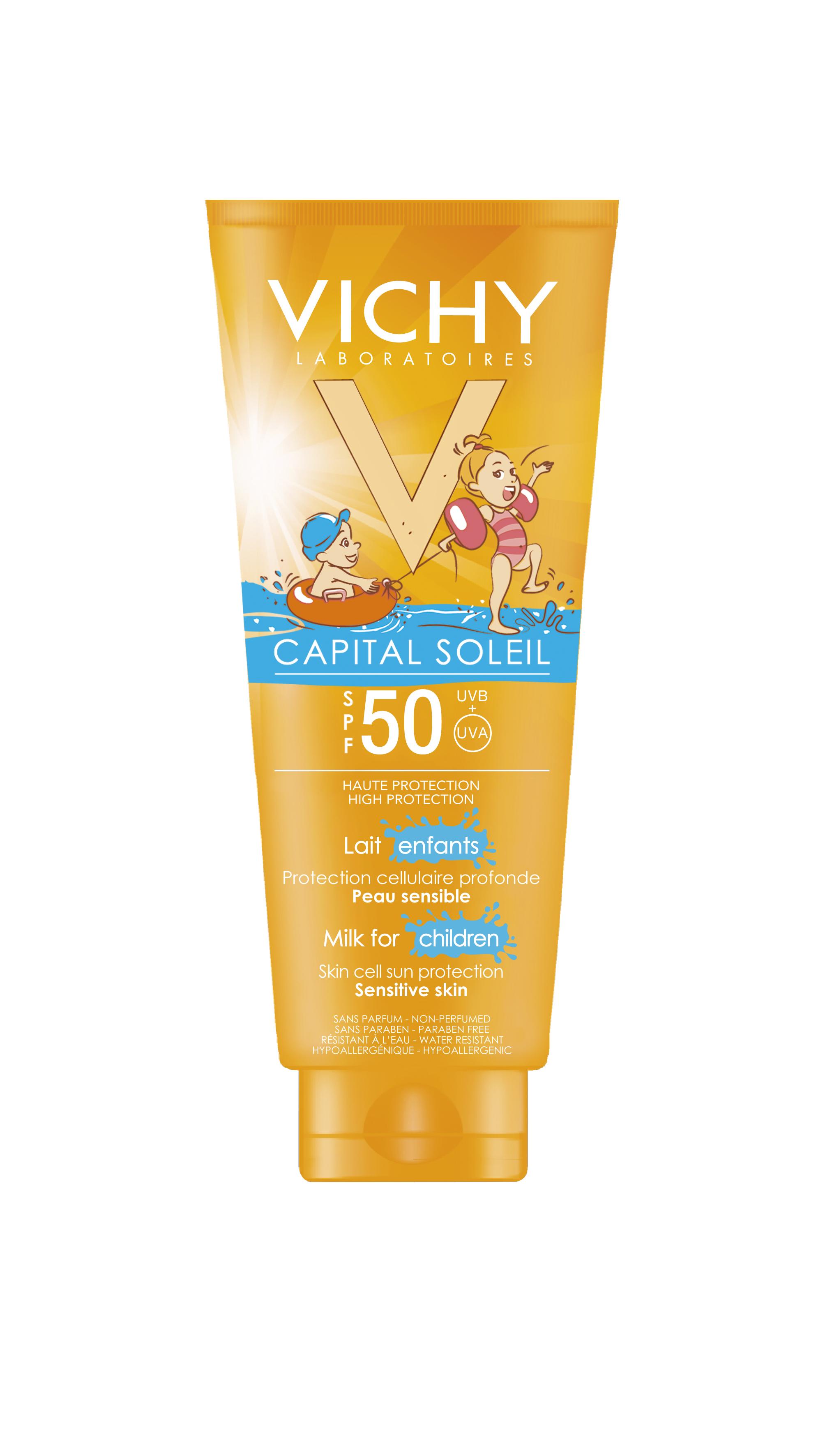 VICHY CS kids milk SPF 50+ Capital Soleil super pena SPF 50: Visoka zaštita za osetljivu dečiju kožu
