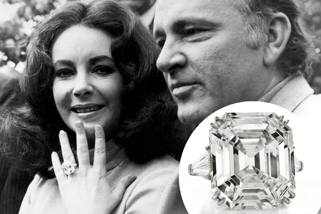 embedded Elizabeth Taylor Engagement Ring From Richard Burton Najskuplje vereničko prstenje poznatih ličnosti