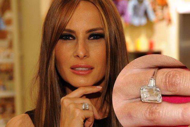 embedded Melania Knauss Engagement Ring From Donald Trump Najskuplje vereničko prstenje poznatih ličnosti