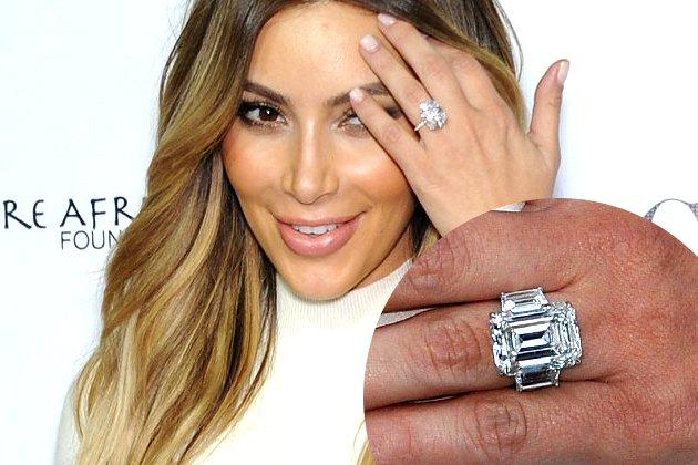 embedded kim kardashian engagement ring from kanye west Najskuplje vereničko prstenje poznatih ličnosti
