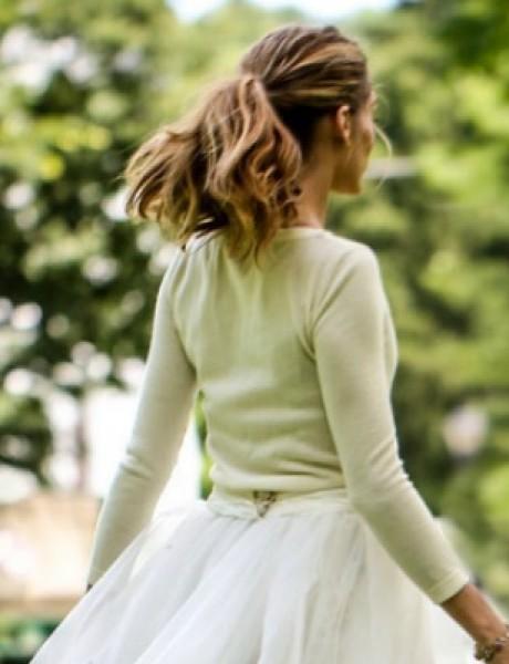 Po ugledu na Oliviju Palermo: Romantičan rep kao top frizura za venčanje