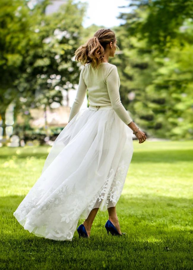 21 Po ugledu na Oliviju Palermo: Romantičan rep kao top frizura za venčanje